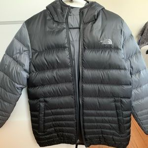North Face reversible boys puffer down coat